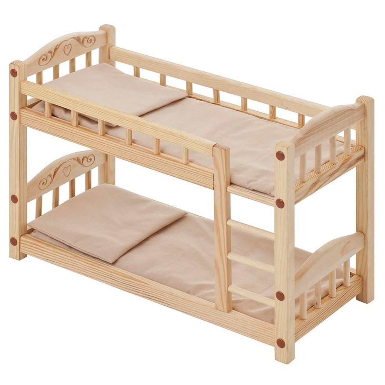 Двухъярусная кровать для кукол своими руками из дерева