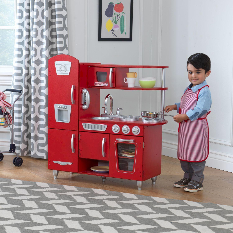 """Игрушка кухня из дерева """"Винтаж"""", цвет Красный (Red"""