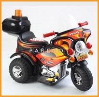 Мотоцикл 1-местный аккумуляторный с музыкальными и световыми эффектами, черный, Weikesi