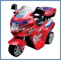 Электромотоцикл (красный), amax