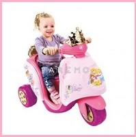 """Электромотоцикл """"Принцессы"""", 6 v (розовый+малиновый), feber"""
