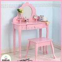 Детский туалетный столик с зеркалом для девочек  деревянный