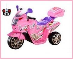 Электромотоцикл viper-r/c, розовый, с дистанционным управлением 97х62х44 см, tjago
